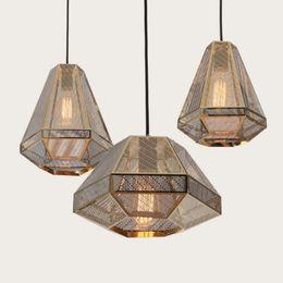 Wholesale Tom Dixon Etch Light - Tom Dixon Pyramid Etch Pendant Lamp Suspension Light Diamond Chandelier Lighting Bar Restaurant Lighting