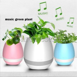 Wholesale Singing Can - K3 Colorful Night light Bluetooth Flower Pot Smart Speaker Can Play Piano Music New Version Wireless Music Disk Speaker Touch Plant Sing