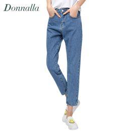 Wholesale Korean High Waist Jeans - Wholesale- Women Pants Autumn Winter New Plus Size Korean Women Fashion High Waist Denim Pencil Pants Bottoming Pants Women Jeans