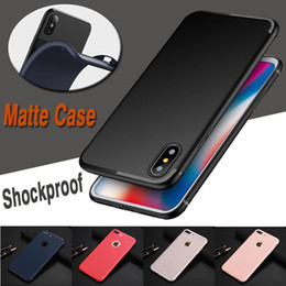 Wholesale Iphone Gel Skin - Candy Color Solid Shockproof Soft TPU Gel Silicone Ultra Thin Slim Flexibly Matte Frosted Back Cover Case Skin for iPhone X 8 7 Plus 6S