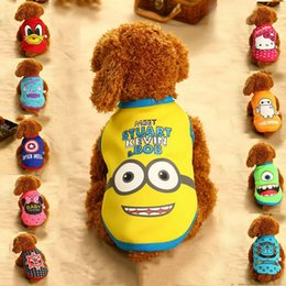 Wholesale Female Cartoon Costumes - 10 styles Small dog winter warm clothes dog winter coats thicken sheep velvet padded cartoon pattern dog winter jackets free shipping