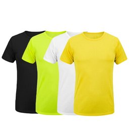 Wholesale Teenagers Casual Shirts - Wholesale- FUNOC Men Workout T-shirts Men Quick-Drying Tee shirt Teenager Casual Loose Short Sleeve t shirt Male Tops Plus Size