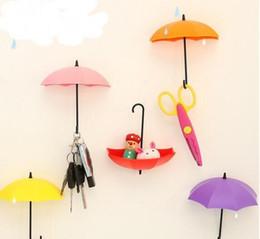 маленькие крючки для чашек Скидка 3 Шт. / Компл. Красочный Зонтик Настенный Крючок Ключ Заколка для волос Держатель Организатор Декоративный