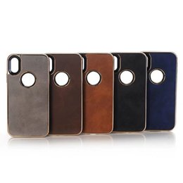 Wholesale Abs Plastic Mobile Phone Case - Crazy horse electroplating mobile phone shell for Iphone 8x 5 colors opp bag iphone 8 PLUS&iphone 7 plus DHL FREE