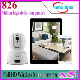 Wholesale Ptz Hd Video Camera - 5pcs Full HD Wireless Smart PTZ Cloud IP Camera,WIFI & Wired Video Monitoring,IR Night Plug& Play Monitor YX-826-02