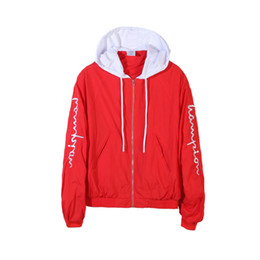 Wholesale Cool Clothes Designs - Cool 2017 hip hop design vetements version coopérative unisexe High quality thin hooded zipper casual jacket sun-protective clothing coat