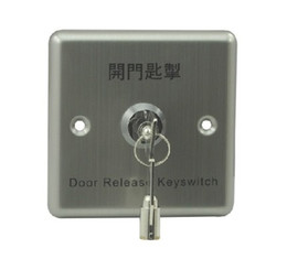 Wholesale Exit Buttons - 86X86 Stainless Steel Access Control Exit Button with Key
