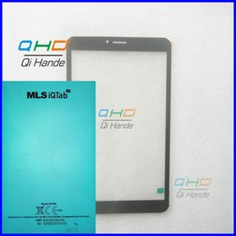 Wholesale Computer Screen White - Wholesale- White Black New For 8'' inch MLS iQTab 3G iQ1809 Tablet PC Computer Touch Screen Capacitance Panel Handwriting Free Shipping