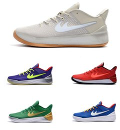 Wholesale Fitness Media - New wholesale men Kobe AD BHM black history month basketball shoes Bryant fitness training sports shoes size 7-12