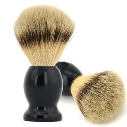 Wholesale shaving brushes wholesale - Shaving Brush with Badger Hair Wood Handle Men's Shave Brush Cleaning Hair Brushes Sweeping Brush Free Shipping