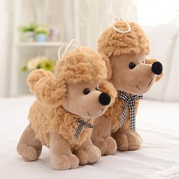 Wholesale Stuffed Plush Puppies - Doll Cute Baby Animals Plush Toy Stuffed Dog Poodle Birthday Gift Oyuncaklar Puppy Doll Caniche Toys For Children Girls 70G0342