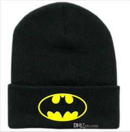 Wholesale beanies bboy - New Winter Caps Batman Face Mask Unisex BBOY Beanies Women Black Hip Hop Casual Mens Knitting Warm Gorros Ski Bonnet Skullies