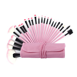 Wholesale Makeup Brushes 32pcs Pink - 32Pcs Makeup Brushes kits Professional Foundation blending face Blusher Eyeline Eyeshadow lip Cosmetics tools + pink bag