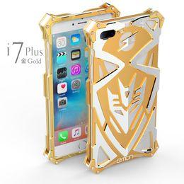 Iphone aluminium skin en Ligne-Coque arrière en aluminium pour boîtier métallique en métal pour Apple iPhone 7 7 8 plus
