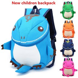 Wholesale Dinosaur Backpacks - 4Color The Good Dinosaur kids Cartoon Arlo Anti Lost backpack kindergarten girls boys children backpack school bags animals dinosaurs snacks
