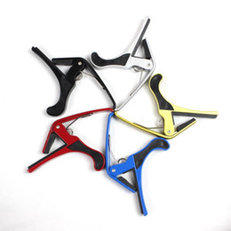 Wholesale capo clamp - Wholesale- New Arrival Guitar Jaw Capo Clamp for Electric and Acoustic Tuba Guitar Trigger Release free shipping bdj002