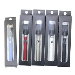 batterie rapide Sconti funzione di preriscaldamento batteria a voltaggio variabile con caricabatterie 400mAh batteria di preriscaldo rapido per penne vape cartuccia di olio di co2