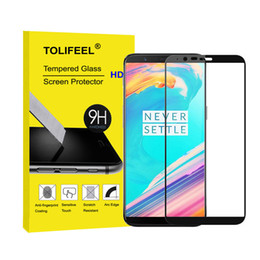 Wholesale Cover Shields - For Oneplus 1+ 5T Tempered Glass Full Cover Screen Protector Protective Shield Real 9H Glass 2.5D