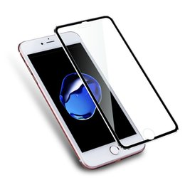 Wholesale Curve Display - Alloy Edge 3D Curved Full Coverage Tempered Glass Film For Apple iPhone 7 Screen Protector Display Protection Film 9H Hardness 0.26mm Thin