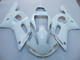 r6 yamaha part UK - Aftermarket moto parts Fairing kit for Yamaha YZF R6 98 99 00 01 02 white fairings set YZFR6 1998-2002 OT09