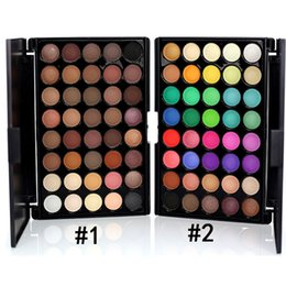 Wholesale Cosmetic Power - 40 Color Eyeshadow Palette Earth Colors Shimmer Glitter Earth Eye Shadow Power Set Cosmetic Makeup Tool Make VS Kylie eyeshadow ..