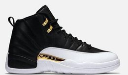 Wholesale Very Pink - New October's Very Own OVO Drake White Black gold Wings 12 Basketball Shoes Men 12 Retro Sneakers Men's 12s Shoes size 8-12