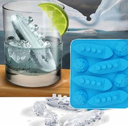 Wholesale Silicone Cutters - Titanic Ice Mold Silicone Mold Boat Ship Ice Tray Silicone Mold Cooking Tools Cookie Cutter Ice Molds Cupcake tool KKA1542