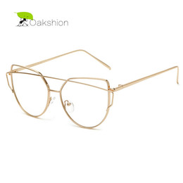 dbb1c6219c2ab Wholesale- 2017 Clear Lens Sunglasses Gold Pink Metal Frame Fashion Trendy Women  Glasses Vintage Casual