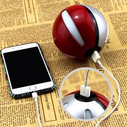 Wholesale Ar Ball - Magic Ball Universal Power Bank Charger Poke mon go powerbank 6000 mAh for Poke AR game with Poke ball LED light portable charge