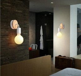 Wholesale Wall Lamp Bedroom Wood - Modern Wood Adjustable Wall Lamp Bedroom Bedside Sconce Lights Fixture Indoor Wall Mounted Light Fitting For Living room