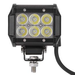 Iluminação de trabalho à prova d'água on-line-2016 DC 9 - 30 V 18 W 1800lm 6500 K LED Car Top Spot de Trabalho Lâmpada de Luz À Prova D 'Água com 6063 Suporte De Aço Inoxidável Perfil De Alumínio