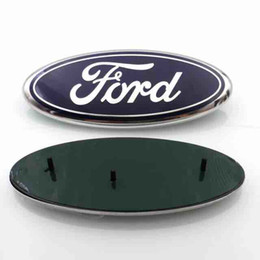 Wholesale Ford Emblems - High Quality background 23*9cm Auto Car Emblem Badge ABS+Aluminum Hood Front Rear Trunk Logo for Ford Edge Explorer