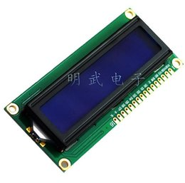 Wholesale Lcd Module Wholesale - Wholesale- 1602 LCD Display Module LCD1602 LCD1602 5V 16x2 Character LCD Display Module Controller blue blacklight Integrated Circuits
