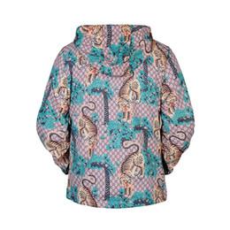 Wholesale Tiger Hooded Coat - Tiger print designer jackets windbreaker men women Fashion long sleeve thin jacket hoodie Palace hip pop brand clothing coats