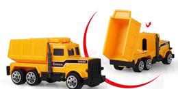 Wholesale Mini Construction Cars - XC1355 6 types Diecast mini alloy construction vehicle Engineering Car Dump-car Dump Truck Model Classic Toy Mini gift for boy