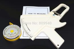 Wholesale Bmi Fat - Wholesale- Body fat Caliper (skin fold caliper)+ BMI calculator (BMI body measure tape) Medical Tool