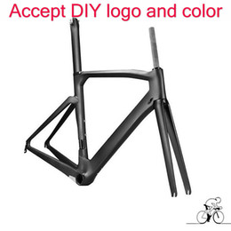 Wholesale New Carbon Road Frame - 2017 new style carbon frame 1k T1100 road bike carbon frame bicycle carbon frame+fork+seatpost+headset+clamp free shipping