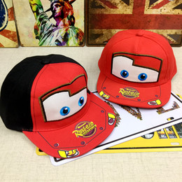 Wholesale Toddlers Girls Baseball Hat - New Baby Kids Toddler Infant Child Children Boy Girl Hip Hop Sport Student Cars Lightning Mcqueen Snapback Sun Hat Baseball Cap
