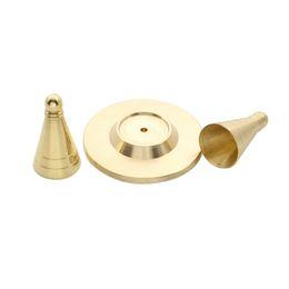 Wholesale Incense Holders Wholesale - Wholesale- She Love Copper Incense Cones Mould Mold DIY Tool Incense Burner Holder Ash Catcher Home Decor