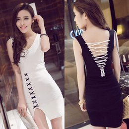 9de2c52d2062 2017 Summer new south Korean sexy nightclub V neckline dress sleeveless fashion  Wear a backpack dress Casual Dresses