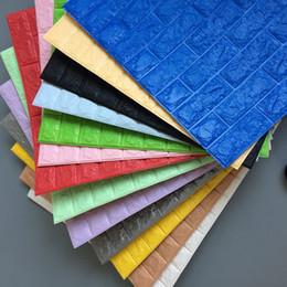 2019 schönheit stoff blau 70 cm * 77 cm Moderne 3D Design Tapete Ziegel Muster Hintergrund Tapeten Hause Schlafzimmer Wohnzimmer Wandverkleidung Dekor