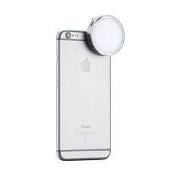 Wholesale Led Lights Video Yongnuo - Wholesale-Newest YONGNUO YN06 Flash Speedlite LED Photo Light Silver Round Led Video Panel for iPhone 6 6S Plus and Smartphone