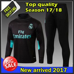 Wholesale Men S Blue Suits - 2017 2018 best quality Real Madrid training suits 17 18 real madrid tracksuits RONALDO hoodie free shipping