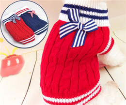 Wholesale Dog Jumpers - Dog Sweater Pets Bowknot Pet Sweater Small Dog Clothes Puppy Clothing Warm Soft Cozy Cute Pet Dog Warm Jumper Sweater Clothes Knitwear Coat