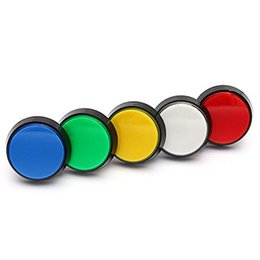 Wholesale Video Game Switches - 5 Colors 12V LED Light 60MM Arcade game Video Game Player big round Push Button micro Switch