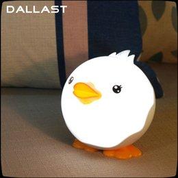 Wholesale Usb Duck - Wholesale- USB LED duck night light touch sensitive Baby Bedroom nightlight Novelty cartoon Animal Sleep KidsLamp Bulb