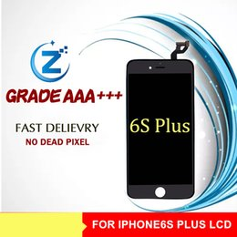Wholesale Mobile Phone Lcd Screen Display - Grade A +++ White Black IPhone6 s Plus Cellphone Screen For Apple 6s Plus LCD Screen 5.5 Inches Mobile Phone Display Free Shipping