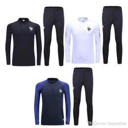 Wholesale Costume National Men - French training suit 2017 2016 Euro Cup maillot de foot French national football training wear long sleeved tracksuit football jacket pants