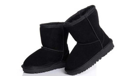 Signore del progettista scarponi da neve online-Hot ladies boots classic boys boot girls stivali da neve boot designer di marca stivali in pelle glitter2009