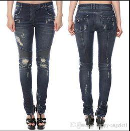 Wholesale Silk Wool Women Pants - 2017 New Arrival Skinny Jeans Pants Apparel Cotton Ultra Elastic Womens Long Casual Denim Jeans back Women Jeans